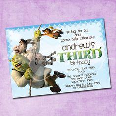 Shrek to the Rescue Birthday Invitation by FreshInkStationery