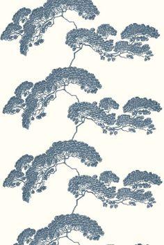 Japanese Tree in Dark Blue from Timorous Beasties #linen #fabric