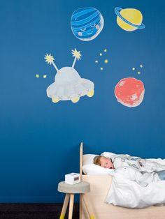 WALL*MANIA sticker #wallmania #wallart #illustrated #muursticker #space