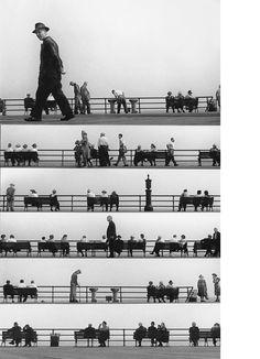 Harold Feinstein - Sheet Music Montage, Coney Island 1950. S)