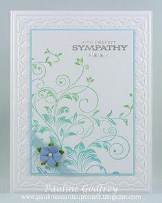 beautiful sympathy card by Pauline Godfrey