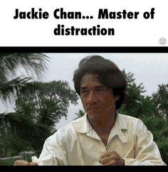 Jackie Chan... Master of distraction  GIF