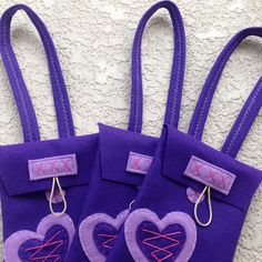 The new rapunzel felt bags!! Great party bags!!