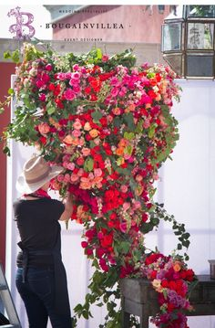 Flower Wall Wedding, Flower Bouquet Wedding, Floral Wedding, Wedding Colors, Bougainvillea Wedding, Wedding Photo Walls, Hacienda Wedding, Wedding Isles, Dream Wedding