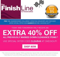 The Finish Line & Associates Thank You For Support, Hydrating Serum, Online Deals, Finish Line, Brand You, Football Pitch