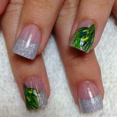 Prom nails 2012-inspired by peacock dress
