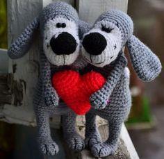 Amigurumi cani innamorati