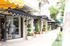 Palm Beach | Worth Avenue. Land of colorful & fun umbrella awnings. Love it!