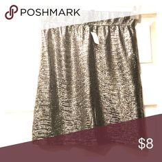 Silver mini skirt Silver mini skirt. NWT Skirts Mini