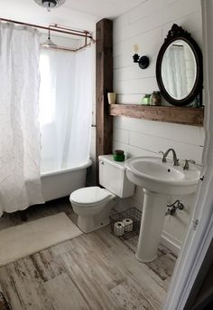 cool 99 Beautiful Urban Farmhouse Master Bathroom Remodel http://www.99architecture.com/2017/03/10/99-beautiful-urban-farmhouse-master-bathroom-remodel/