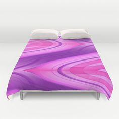 Pink and Purple Asymmetry 1 Duvet Cover by Christine baessler - $99.00