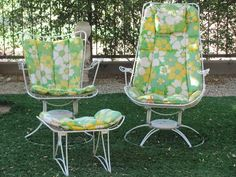 Vintage Mid 60's Homecrest Riviera Carousel Chairs Plus Ottoman | eBay