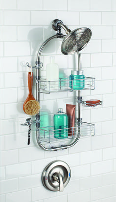 Help Your Bathroom Stay Organized With The Forma Shower Station. Featuring  Two Wire Baskets,