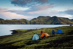 Camping in Lake Myvatn, Iceland