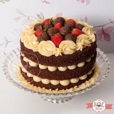 Fun Cupcakes, Cupcake Cakes, Beautiful Cakes, Amazing Cakes, Bolo Nacked, Bolos Naked Cake, Drip Cakes, Love Cake, Cupcake Recipes
