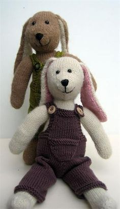 GRATIS PATROON KONIJN BREIEN - Hobby Free knitting pattern for bunnies: klik onderaan op patroon (geen download)