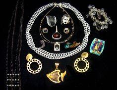 Vintage jewelry lot-brutalist jewelry collection-machine age jewelry lot-industrial jewelry bundle-modern art jewelry-steampunk jewelry lot by BECKSRELICS on Etsy