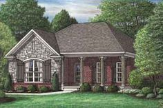 Southern Style House Plan - 3 Beds 2 Baths 1468 Sq/Ft Plan #34-199 Exterior - Front Elevation - Houseplans.com