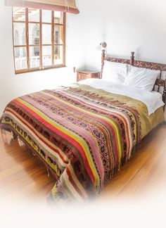 One-Of-A-Kind Colourful Throw Blanket – 100% Soft, Natural Alpaca Fibre and Organic Dyes