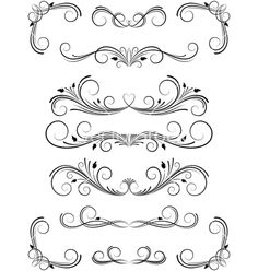 Floral design elements vector 544461 - by bellenixe on VectorStock®