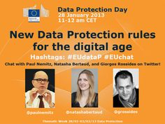 On Data Protection Day 2013, our experts took to Twitter to answer your Qs on #eudatap http://storify.com/EU_Commission/euchat-on-data-protection