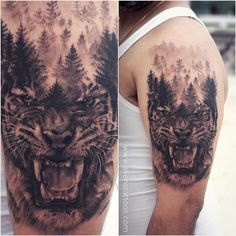 Another one in Pune, tried double exposure for the first time. Tell me how is it people, Share it if you like it. Tiger #tattoo by Sunny Bhanushali, Aliens Tattoo India. www.alienstattoos.com