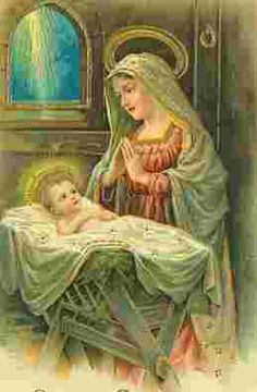 The Christ child with His mother