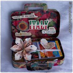 [Geldgeschenk] Serviettentechnik: Reisegutschein Italien Reise Geschenk