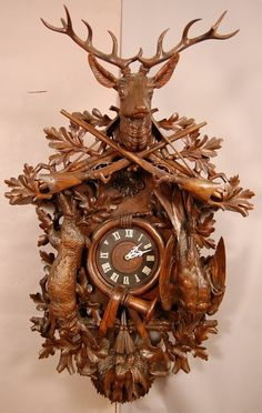 coos+coo+clocks   191: Great Black Forest style German Coo-Coo clock.