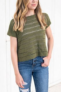 Crochet Designs, Crochet Patterns, Crochet Ideas, Crochet Summer Tops, Crochet Tops, Make And Do Crew, Box Tops, Modern Crochet, Lion Brand Yarn