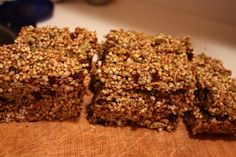 Made these in dehydrator, substituted raisins with dates.  Very good alternative to store bought energy bars.  Love that nutrition information is shared with the recipe.