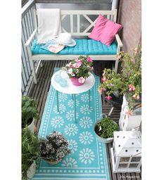 Un tapis d'extérieur pour terrasse