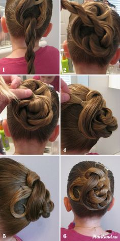 Step-by-step hairdo for girls