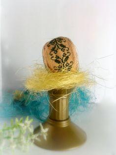 Яйцо, пасха, вышивка , крестик , текстильное