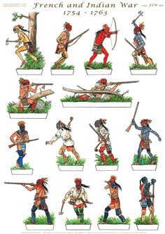 Gorini Art - Soldatini di Carta Native American Images, Native American History, Native American Indians, Woodland Indians, Paper Toy, Seven Years' War, Cowboys And Indians, Le Far West, Paper Models