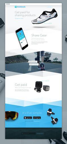 App landing page More