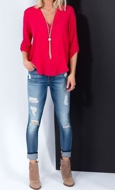 Casual outfits for women - jeans | Style for over 35 ~ casual but chic and pulled together