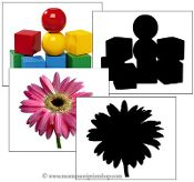 Objects and Silhouette Cards: Montessori Home Learning Materials