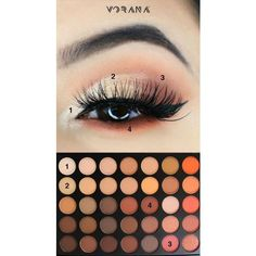 Morphe 35 Color Nature Glow Eyeshadow Palette 35O ❤ liked on Polyvore featuring beauty products, makeup, eye makeup, eyeshadow and palette eyeshadow