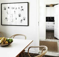 Hand prints - cute idea for a family project //deco atelier