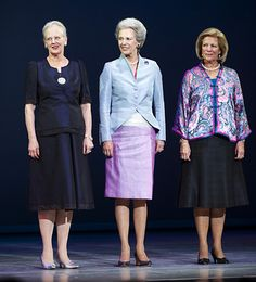 Three Sisters: Queen Margrethe of Denmark, Princess Benedikte of Denmark, Queen Anne-Marie of Greece