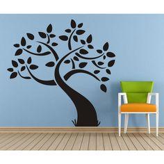 Adesivo de Parede  X4 Adesivos Árvore Uma Cor  F53 P