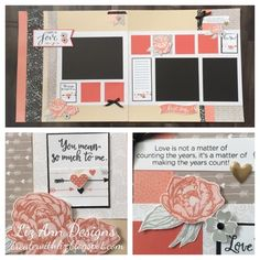 'Happy in Love' Scrapbook layout with CTMH Charlotte using the January SOTM by Liz Mullins. http://createwithliz.blogspot.com.au/2016/01/charlotte-in-love-layout.html?m=1