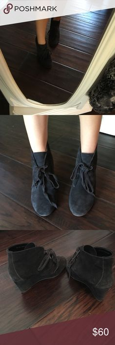 Super cute black booties Dolce vita black booties. Wedge. Also on my eBay @drur.amand Dolce Vita Shoes Ankle Boots & Booties