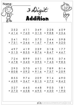 digit addition with regroupingnd grade math worksheetsfree  print these free  digit addition worksheetsfor use at home or in school  solve these addition problems with digit addends  digit addition  worksheets