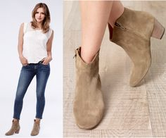 """Paige Dineen (Katharine McPhee) wears an Isabel Marant Dicker Suede Ankle Boot in the color Khaki in Scorpion Season 1 Episode 4 """"Shorthanded"""" and Season 1 Promo Images. #paigedineen #scorpion #cbs"""