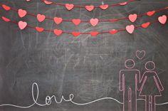 Valentine or Anniversary Chalkboard