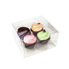 Cupcake Box Packaging - 4 Regular Cupcakes, Clear Insert [CBS177] Fun Desserts, Delicious Desserts, Yummy Food, Awesome Desserts, French Desserts, Cupcake Packaging, Box Packaging, Retail Packaging, Packaging Design