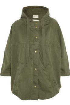 Current/Elliott The Cadet hooded cotton-twill jacket | THE OUTNET