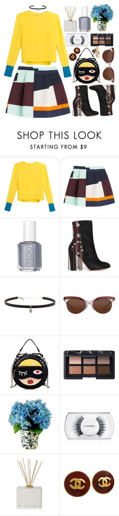 """""""Stay"""" by shanelala ❤ liked on Polyvore featuring Roksanda Ilincic, MSGM, Essie, Chloé, Carbon & Hyde, NARS Cosmetics, Designs by Lauren, MAC Cosmetics, Nest Fragrances and Chanel"""